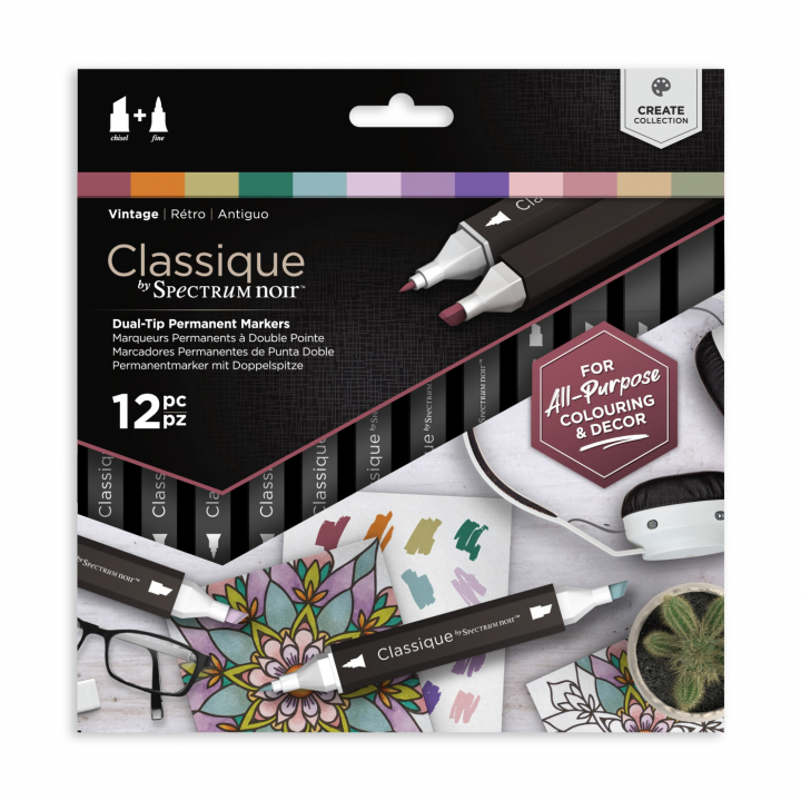 Classic Marker 12-set Vintage in the group Pens / Artist Pens / Illustration Markers at Pen Store (111810)