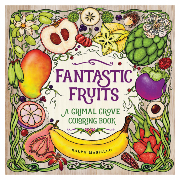 Fantastic Fruits - A Grimal Grove Coloring Book in the group Hobby & Creativity / Books / Adult Coloring Books at Pen Store (111851)