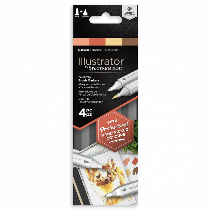 Illustrator Marker 4-set Natural in the group Pens / Artist Pens / Illustration Markers at Pen Store (111892)