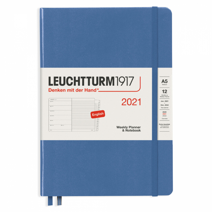 Calendar 2021 12M Weekly Planner A5 Denim in the group Paper & Pads / Planners / 12-Month Planners at Pen Store (112304)