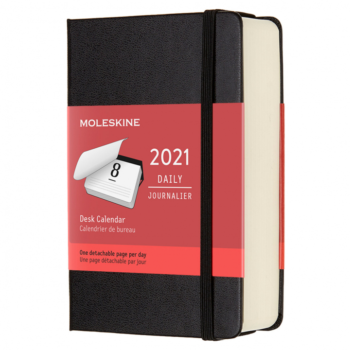Calendar 2021 Daily Desk Hardcover Pocket Black  in the group Paper & Pads / Planners / 12-Month Planners at Pen Store (112316)