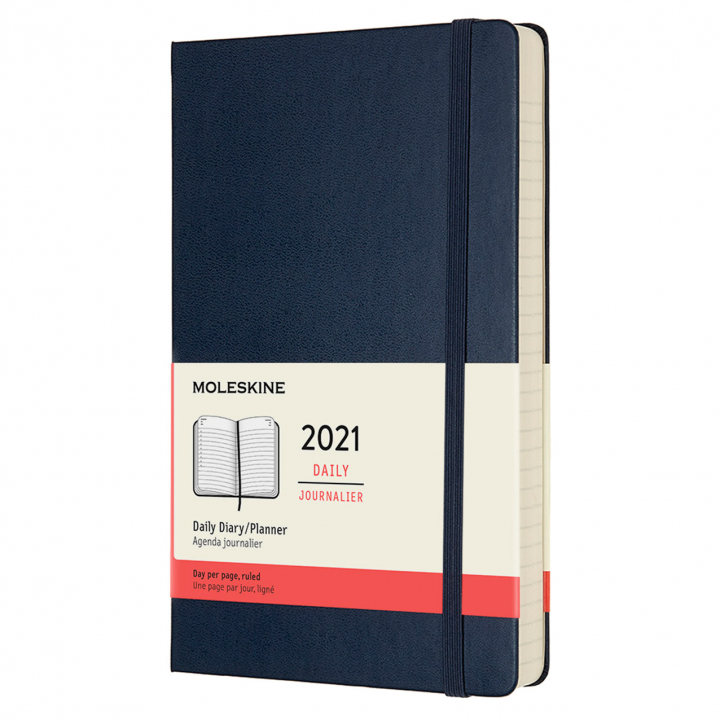 Calendar 2021 Daily Hardcover Large Blue in the group Paper & Pads / Planners / 12-Month Planners at Pen Store (112318)