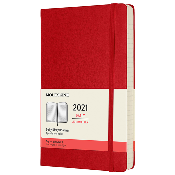 Calendar 2021 Daily Hardcover Large Red in the group Paper & Pads / Planners / 12-Month Planners at Pen Store (112322)