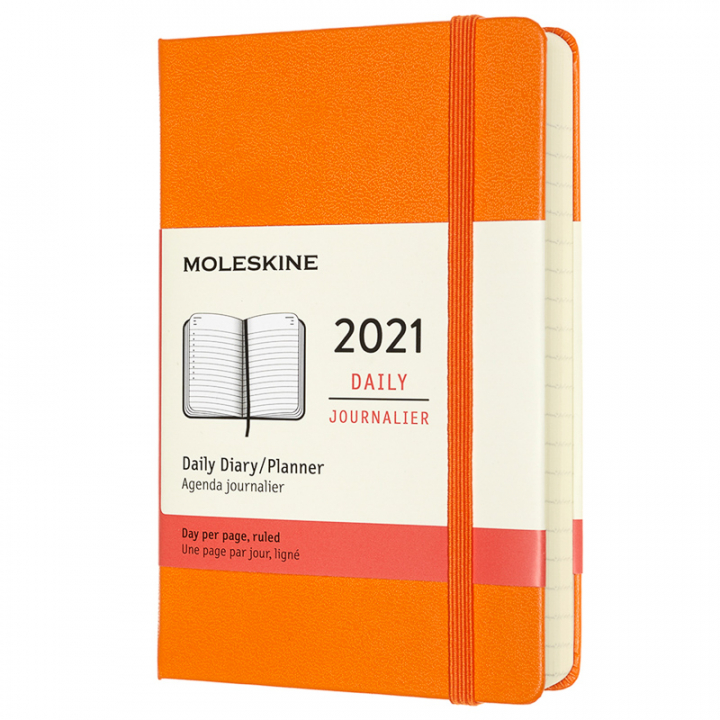 Calendar 2021 Daily Hardcover Pocket Orange in the group Paper & Pads / Planners / 12-Month Planners at Pen Store (112326)