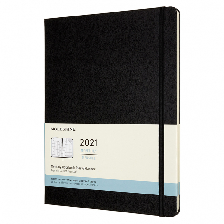 Calendar 2021 Monthly Hardcover XL Black in the group Paper & Pads / Planners / 12-Month Planners at Pen Store (112341)