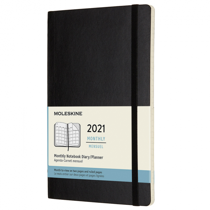 Calendar 2021 Monthly Softcover Large Black in the group Paper & Pads / Planners / 12-Month Planners at Pen Store (112342)