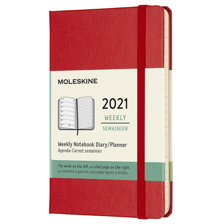 Calendar 2021 Weekly Hardcover Pocket Red in the group Paper & Pads / Planners / 12-Month Planners at Pen Store (112359)