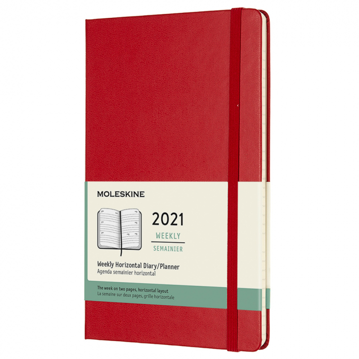 Calendar 2021 Weekly Horizontal Hardcover Large Red in the group Paper & Pads / Planners / 12-Month Planners at Pen Store (112364)