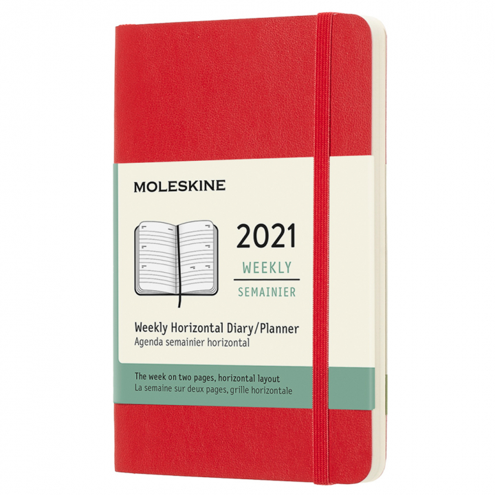 Calendar 2021 Weekly Horizontal Softcover Pocket Red in the group Paper & Pads / Planners / 12-Month Planners at Pen Store (112372)