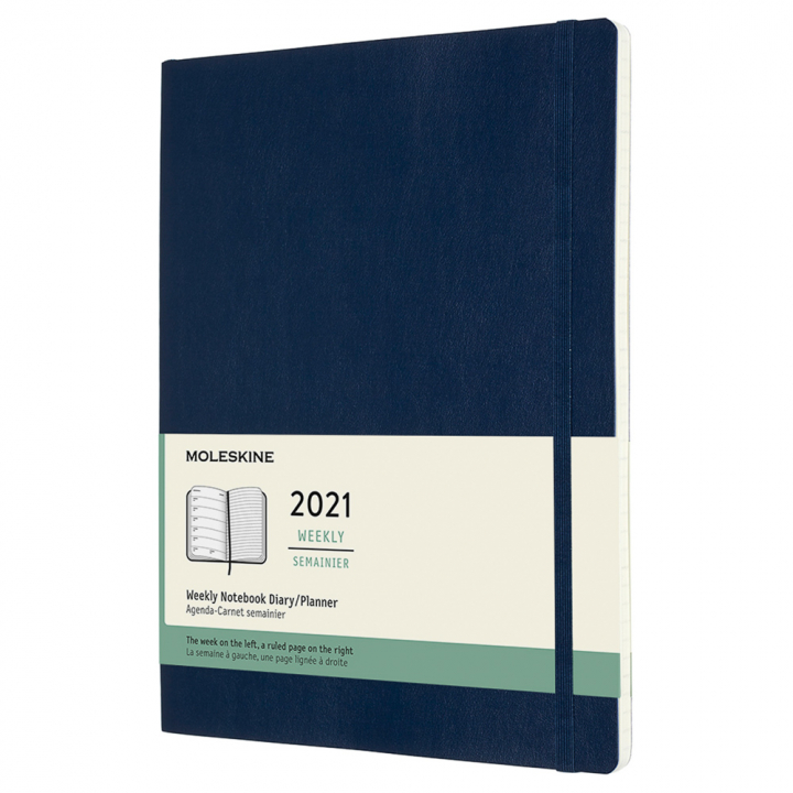Calendar 2021 Weekly Softcover XL Blue in the group Paper & Pads / Planners / 12-Month Planners at Pen Store (112382)