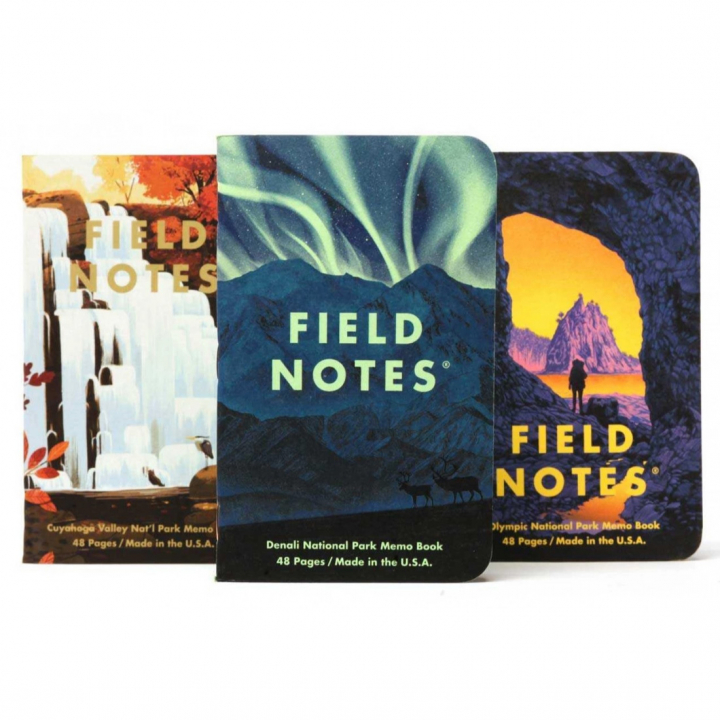 National Parks Serie E 3-Pack in the group Paper & Pads / Note & Memo / Writing & Memo Pads at Pen Store (125128)