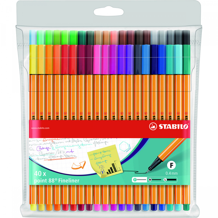 Point 88 Fineliner 40-pack in the group Pens / Writing / Fineliners at Pen Store (125419)