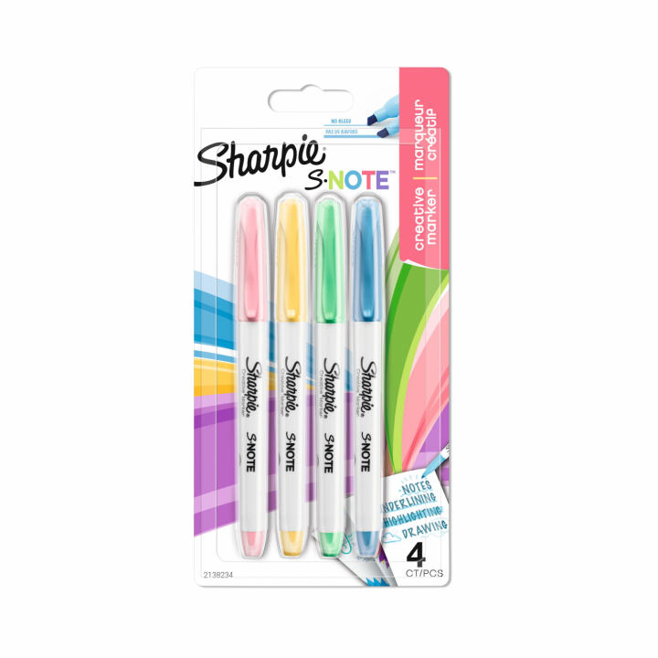 S-note 4-set in the group Pens / Office / Markers at Pen Store (125432)