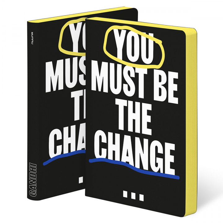 Notebook Graphic L - You Must Be The Change in the group Paper & Pads / Note & Memo / Notebooks & Journals at Pen Store (125440)