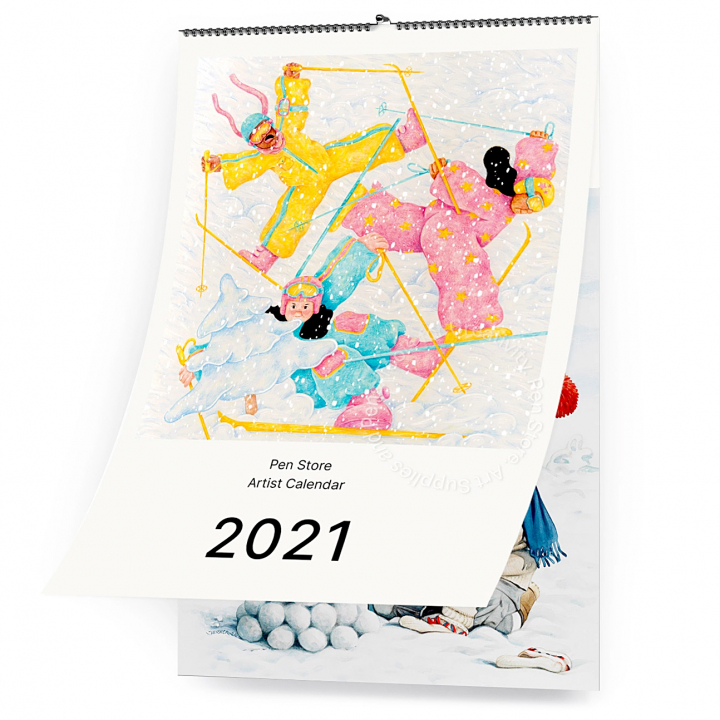Artist Calendar 2021 in the group Paper & Pads / Planners / Wall Calendar at Pen Store (CALENDAR)