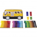 Connector Felt-tip pens School Buss - Set of 33