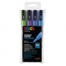 Posca PC-3M Glitter Blue tones - Set of 4