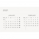 Calendar 2021 12M Weekly Planner A5 Denim