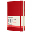 Calendar 2021 Daily Hardcover Large Red