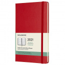 Calendar 2021 Weekly Horizontal Hardcover Large Red