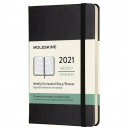 Calendar 2021 Weekly Horizontal Hardcover Pocket Black